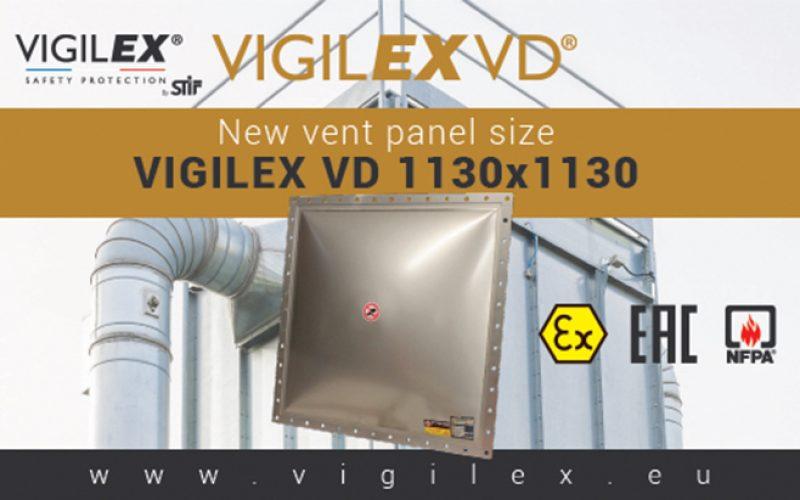 Nouvelles dimensions d'évent d'explosion : Vigilex VD 1130×1130